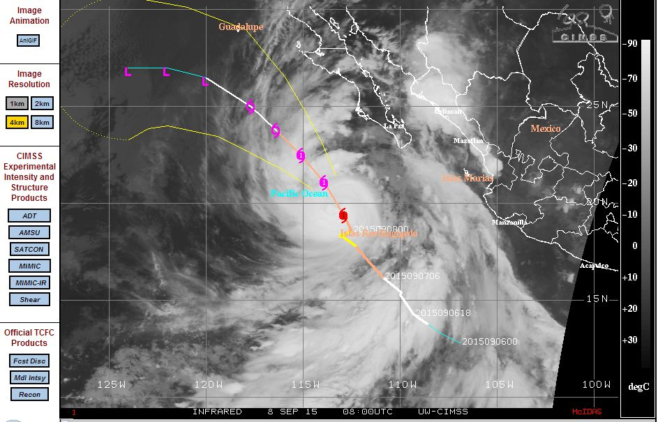 new and current pacific ocean storms september 9 2015