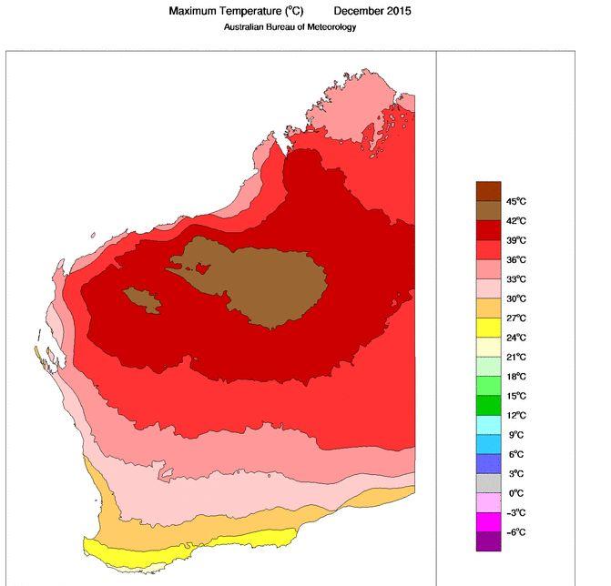 Extreme Heat Marble Bar Pilbara - October 2015 to January 2016