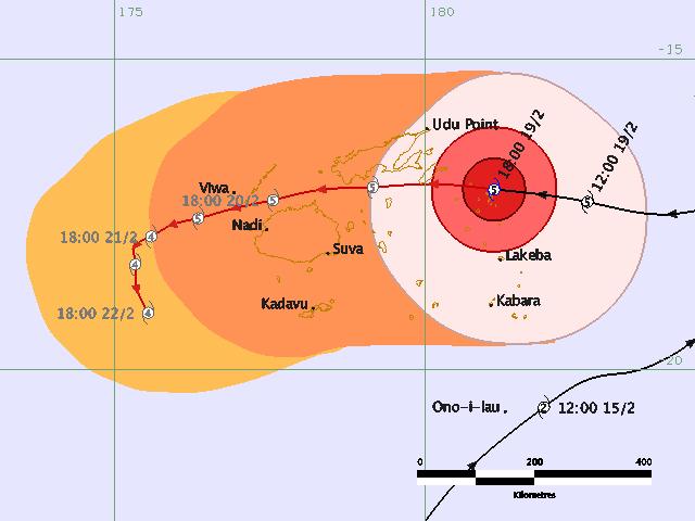 Tropical Cyclone Winston Category 5 hits Fiji