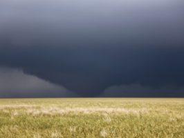 Perryton Tornado becomes a wedge tornado quickly from a cone tornado.