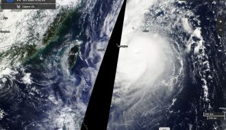Typhoon Chaba nears Taiwan October 3 to 5 2016