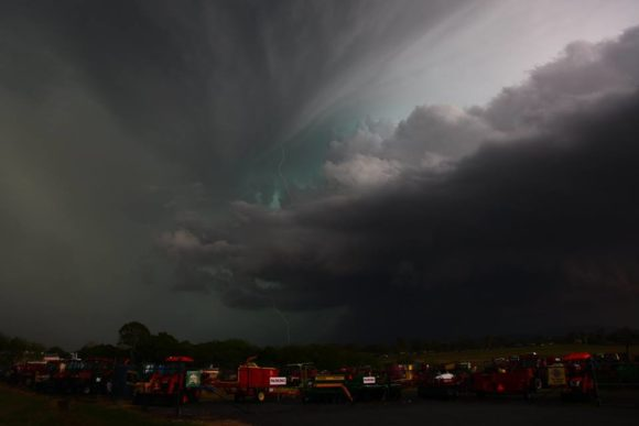 bell shaped updraft supercell