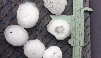 Giant Hailstones hit Sydney 18th December 2017