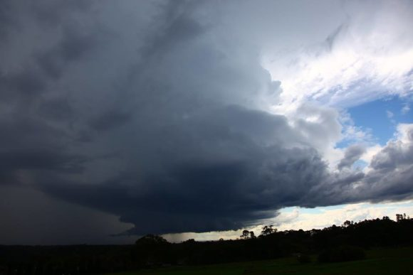 Glenorie Supercell with Wall cloud 21st March 2017