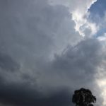 hunter valley developing supercell with golf ball sized hailstones