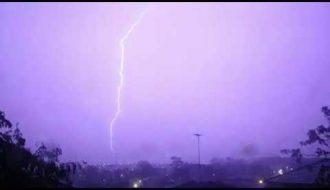 Lightning Storms Glenmore Park. 8th January 2020