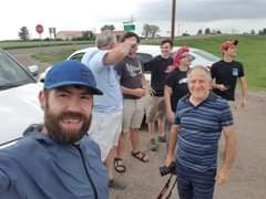 Image may contain: 5 people, including Brandon VanDalsem and Jimmy Deguara, people smiling, people standing, beard and outdoor