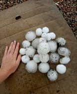 "#BREAKING: Destructive hailstorm in Sydney; ""Giant hail"" reported in many areas...."