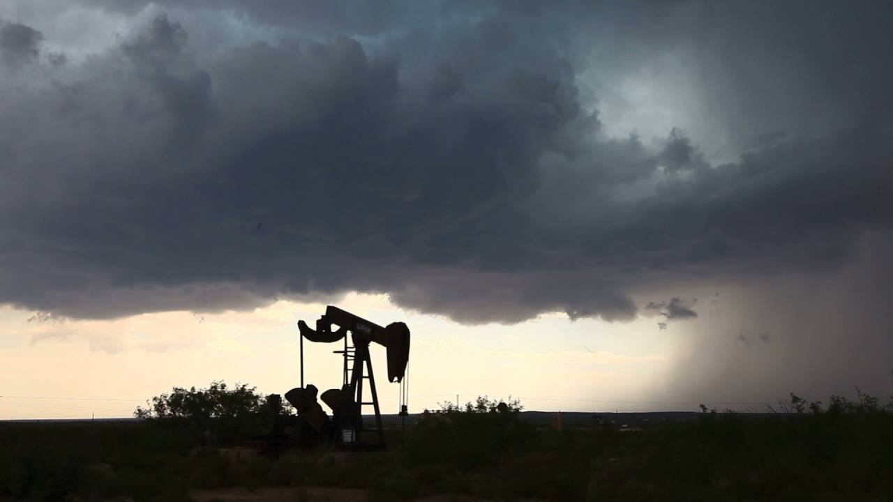 Green Rotating Supercell Base SW Texas - YouTube