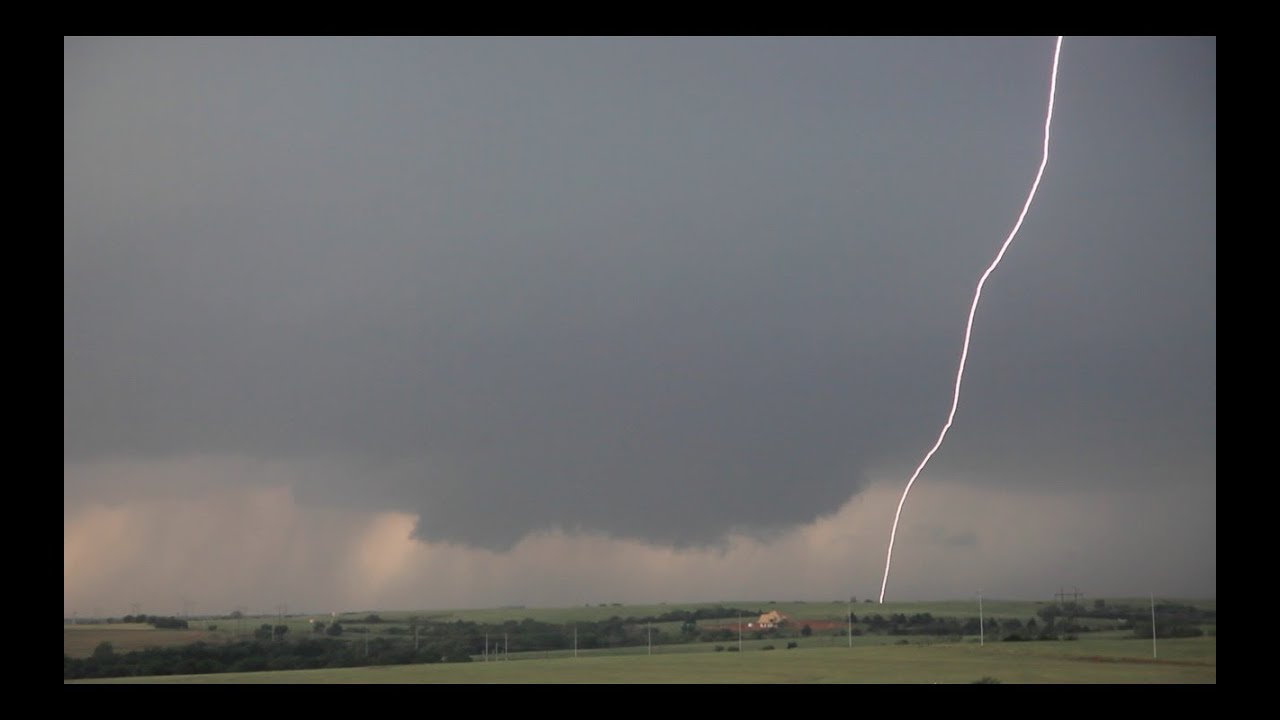 Insane lightning bolts El Reno Tornadic Supercell