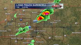 Long Track Supercell That Produces Perryville Tornado Traveled...