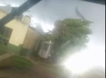 Tornado Rips Building Into Pieces