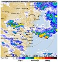 We have had cell after cell for the past half hour and rain almost continuous he...