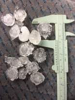 Hail to 2.5cm E of Lithgow #hail #hailstorm #storm