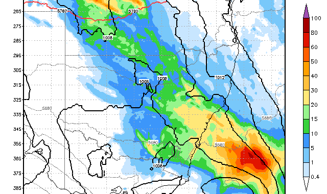 Rain Event likely 16th December 2016
