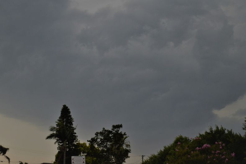 Tuesday afternoon storms with small hail 1/12/2020