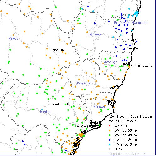 Rain, storms, heat and wind - NSW - A state of contrasts - 22 to 28 December 2020