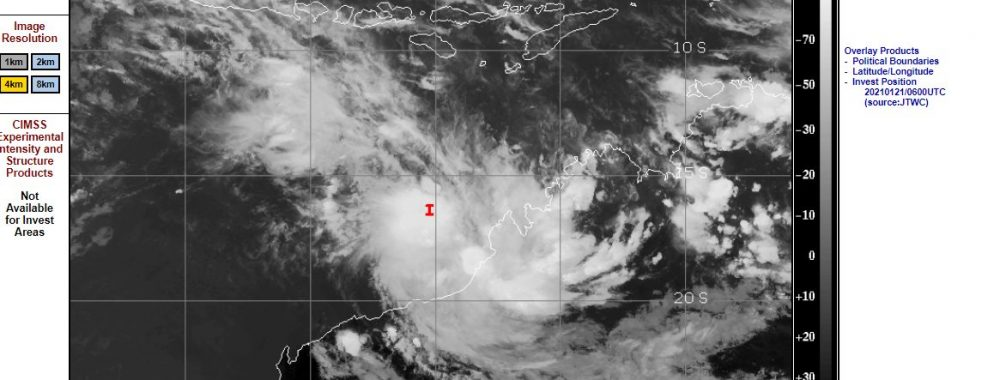 Possible tropical cyclone to impact NW Western Australia 23/1/2021