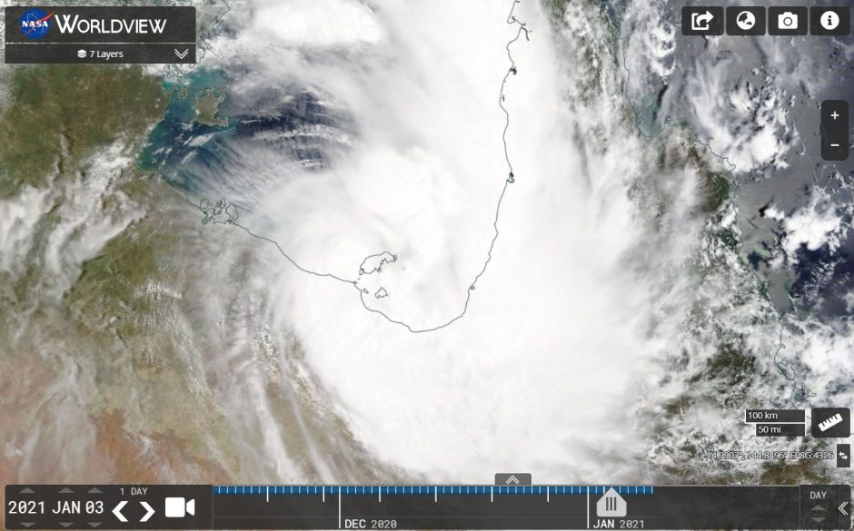 Tropical Cyclone Imogen 3 and 4 January 2021