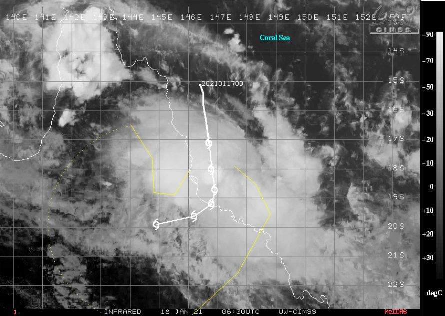 Tropical Storm / Tropical Cyclone Kimi - 17 to 19 January 2021