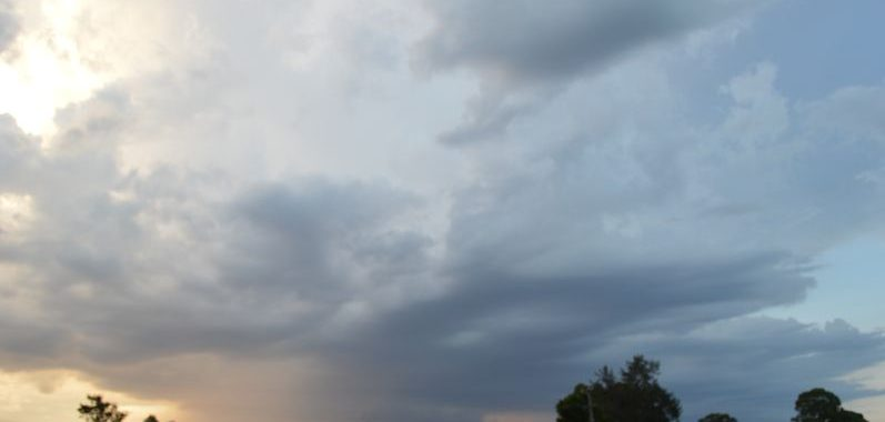 Sunset storms and local storm chase - 30 January 2021