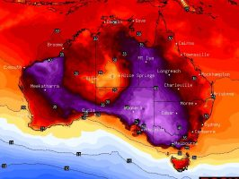 Second stronger heatwave for SE Australia 21 - 25 January 2021