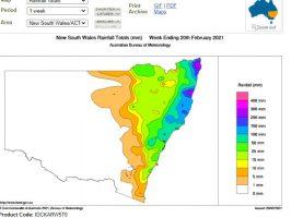 Heavy coastal showers - New South Wales North Coast, 15-21 February 2021