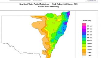 Heavy coastal showers - New South Wales North Coast, 15-21 February 2021