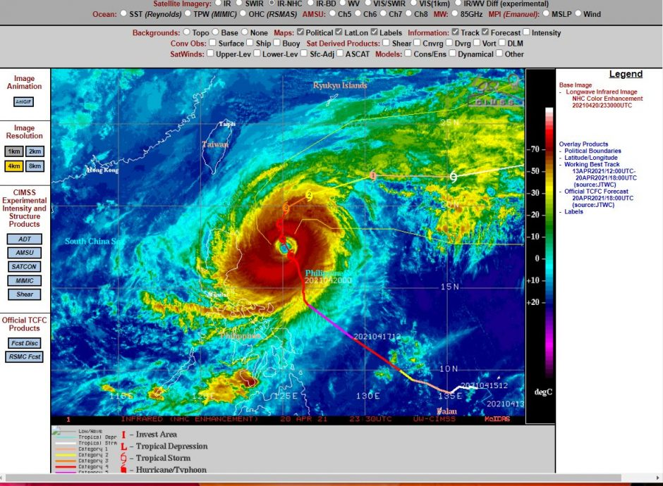 Typhoon Surigae - Philippines - 18 to 23 April 2021