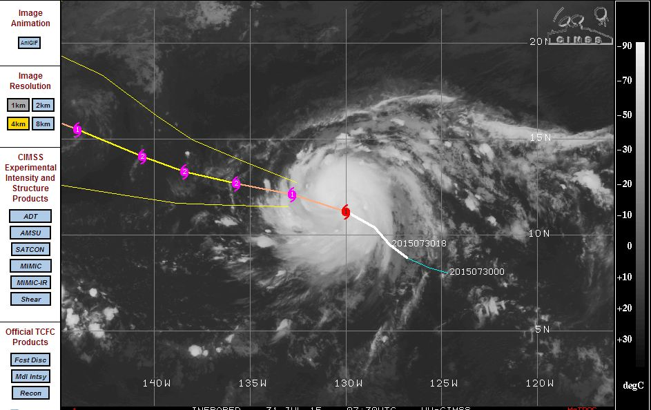 New Pacific Ocean storms 30 and 31 July 2015