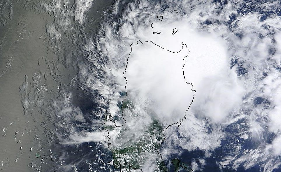 Tropical storms near Philippines and Japan July 25 and 26 2015