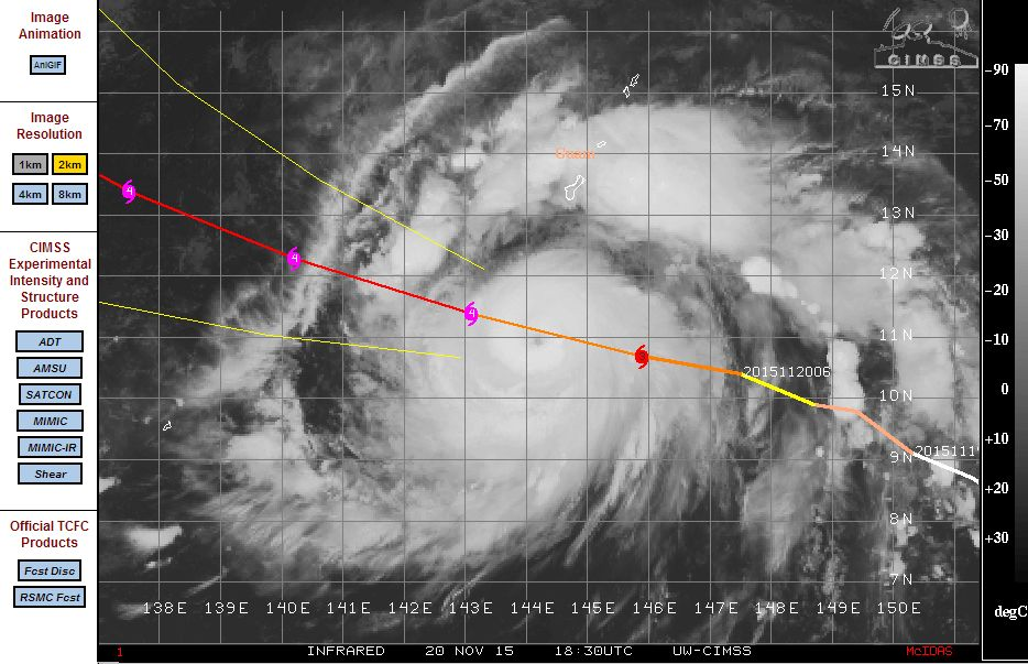 Typhoon In Fa - A category 4 storm 21/11/2015
