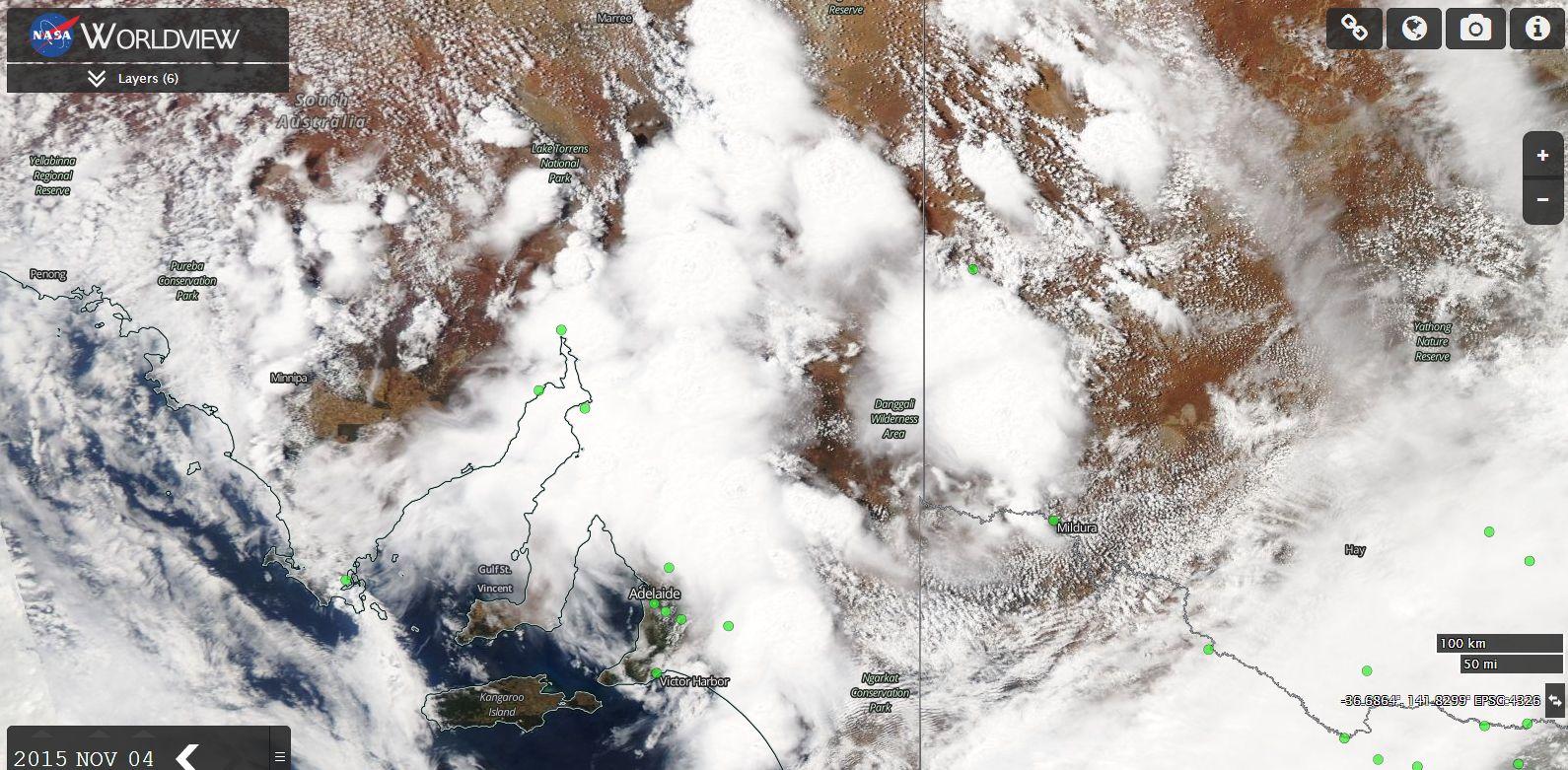 Storms, rain and a tornado South Australia 4/11/2015