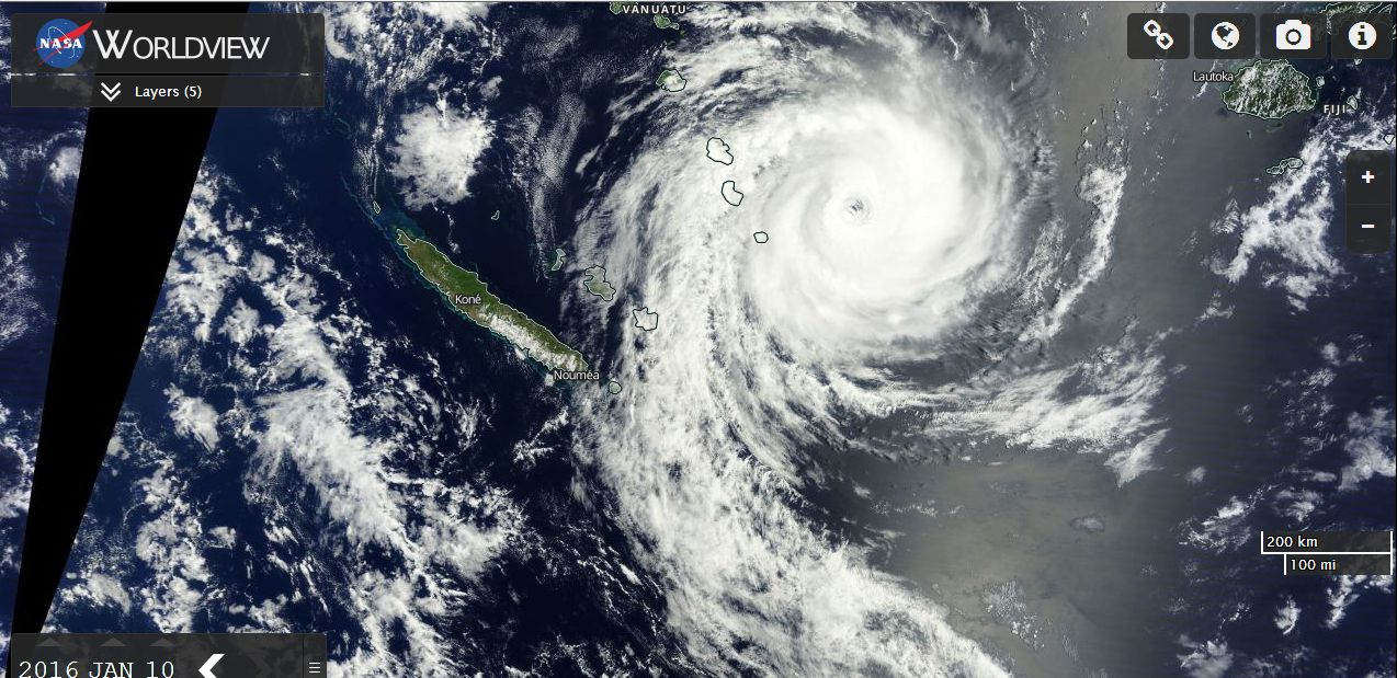 Tropical Cyclone Ula redevelops for a second time 10/1/2016