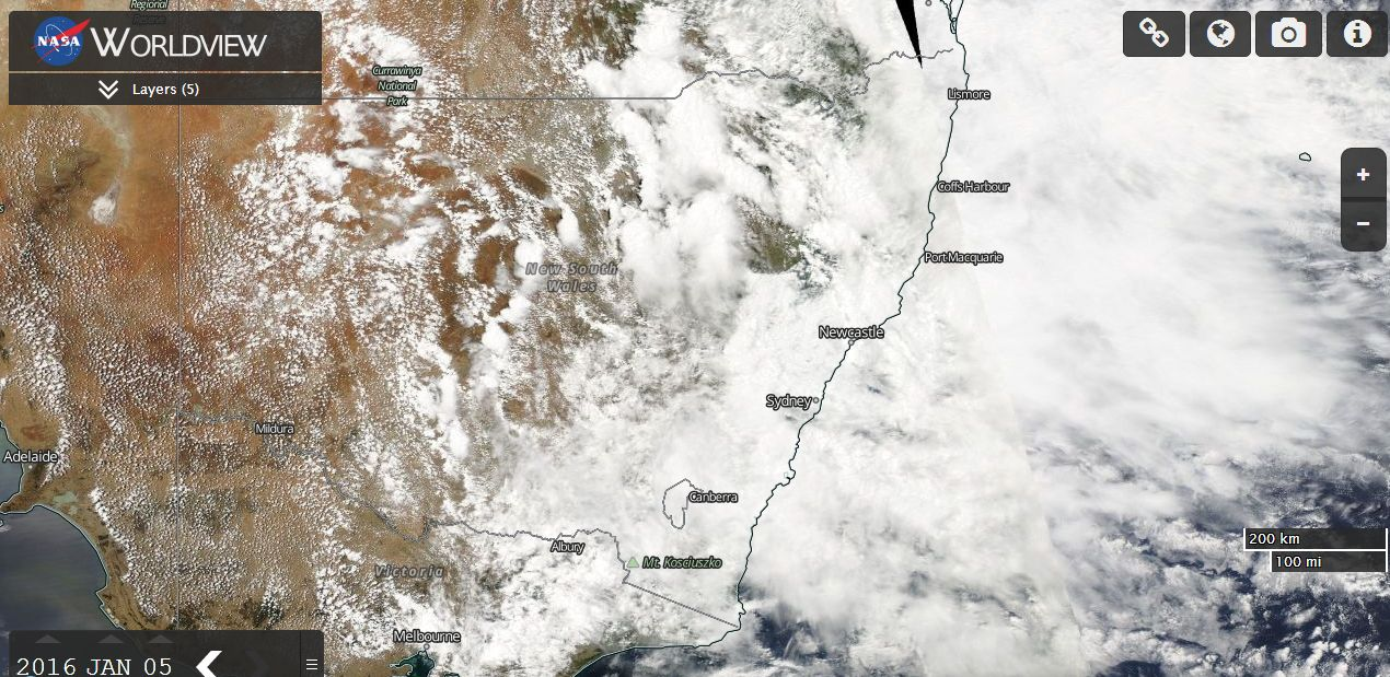 Heavy rain and floods, NSW and Queensland 5 January 2016