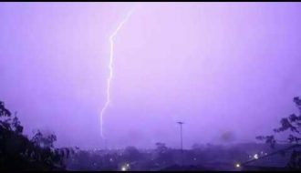 Lightning Storms Glenmore Park. 8th January 2020