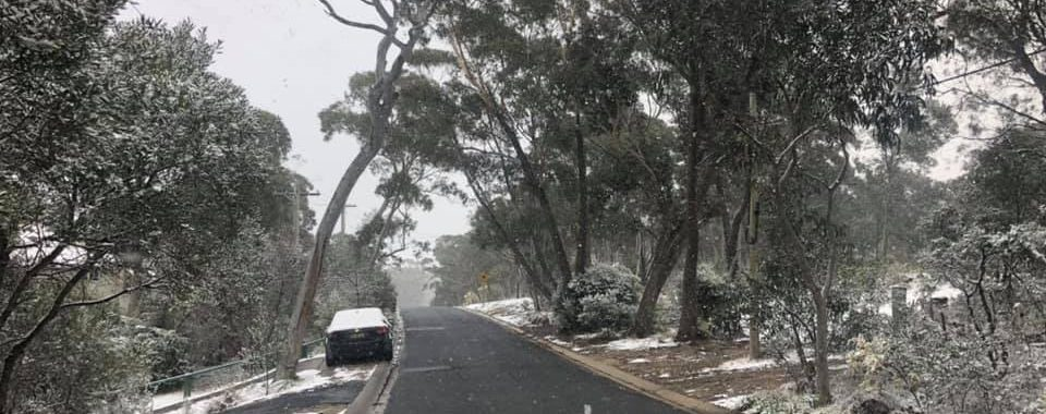 Snowed in Mt Victoria just in the past 15 minutes - more showers on the way 10th August 2019