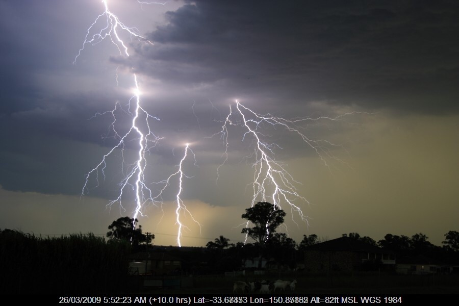 Bolt from the past! This is one bolt or one lightning exchange! 2009 in Schofiel...