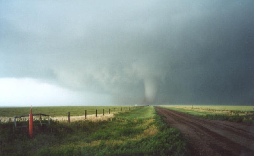 White Deer tornado in May 29 2001 Dave Croan and I doing the hard yards - first ...