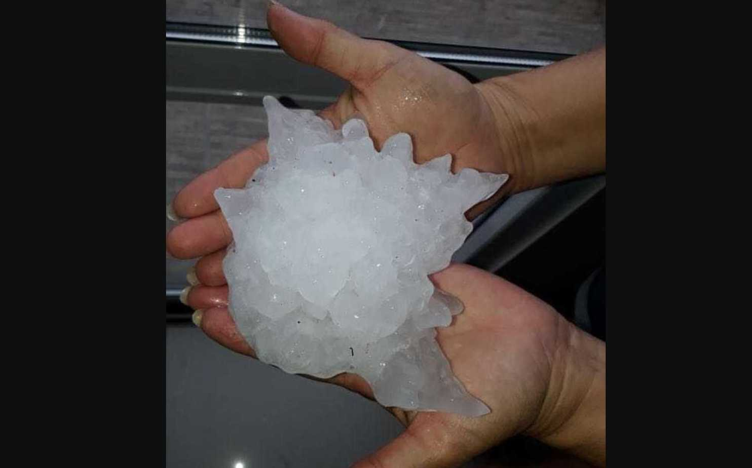 Giant hail pummeled an Argentine city Thursday, possibly a Southern Hemisphere record