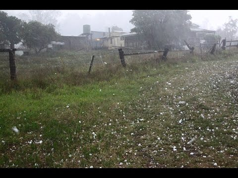 Giant hail Queensland Supercell 3rd December 2016