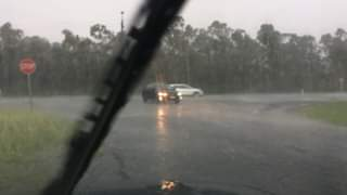 Storm hits near St Clair strong winds... become stronger and heavy rain. Hail oc...