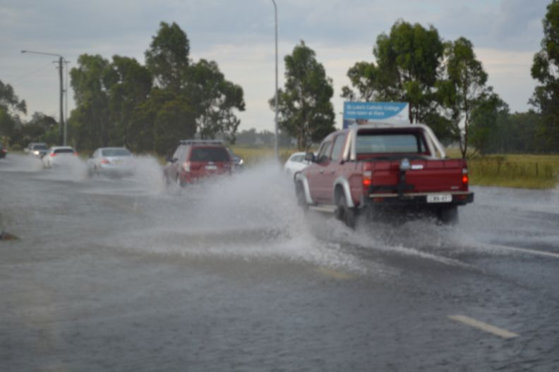 Isolated intense storm at Marsden Park (NSW) with flooding 23 January 2021