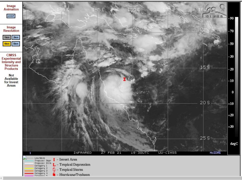 Potential tropical cyclone - NE Queensland - 28 February to 3 March 2021