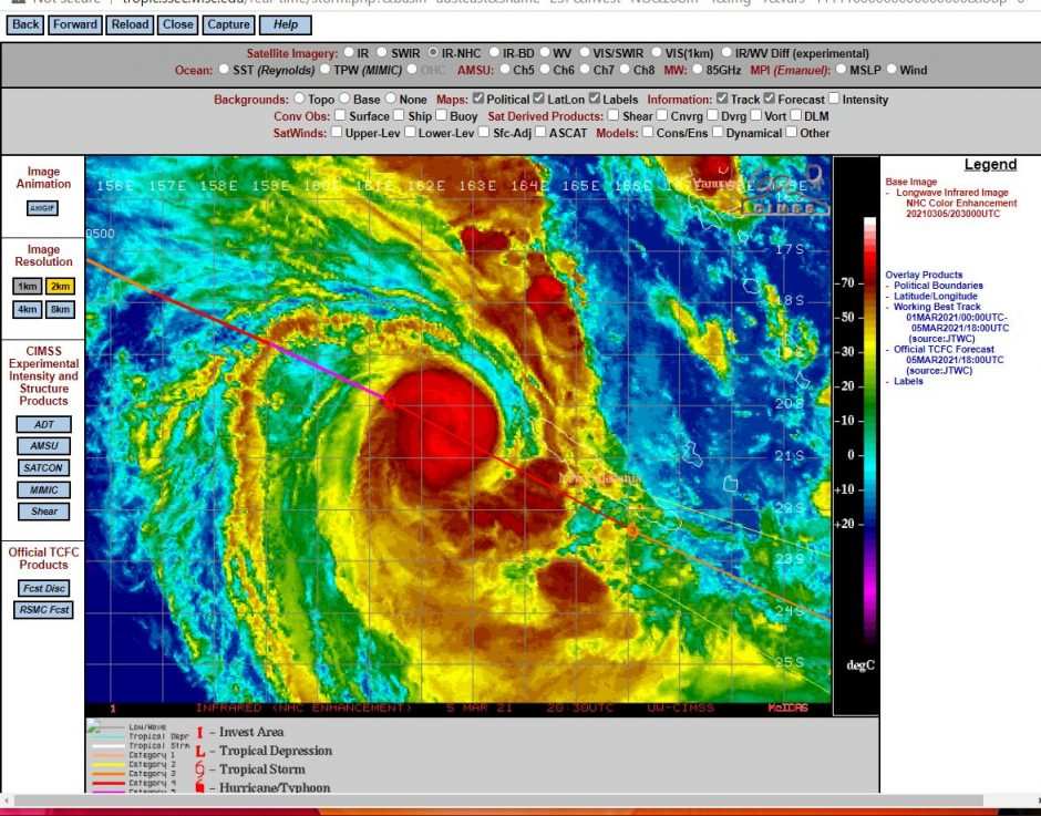 Tropical Cyclone Niran approaches New Caledonia - 6 March 2021