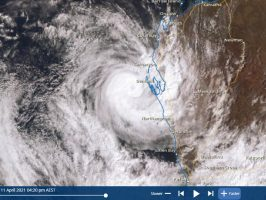 Tropical Cyclone Seroja at landfall - How strong was the storm? 12/4/2021